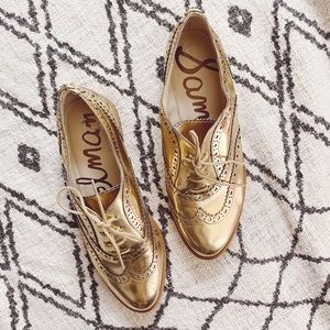 Sam Edelman Shoes - Sam Edelman Jerome Gold Oxfords